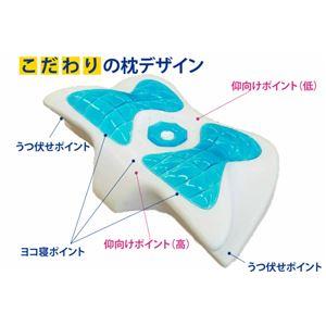 マルチジェルピロー/枕 【ブルー】 接触冷感 カバー:スムースニット生地使用・洗濯可