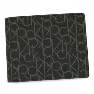 カルバンクライン 二つ折り財布(小銭入れ付) CK K79118 999 ブラック H10×W12×D3 - 拡大画像