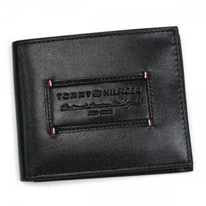 TOMMY HILFIGER(トミーヒルフィガー) 二つ折り財布(小銭入れ付) ASPEN 0091-5581/01 ブラック H9.5×W11.5×D2.5