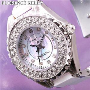 FLORENCE KELLY ICEBERG EX 1Pダイヤ セラミックウォッチ FLK800 - 拡大画像
