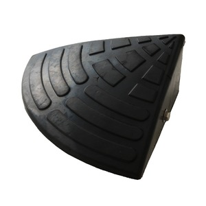 【耐久性に自信アリ】段差スロープ コーナー用(ゴム製 高さ10cm用)/段差プレート/段差解消スロープ 扇形 駐車場の段差ステップに