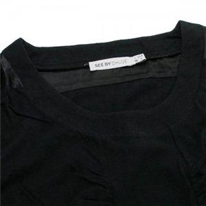 SEE BY CHLOE(シーバイクロエ) レディースTシャツ  495801 C74 ブラック L55 S7 W42 SH36