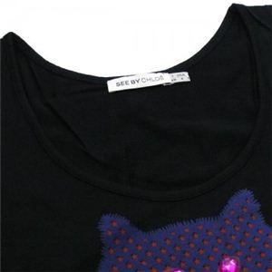 SEE BY CHLOE(シーバイクロエ) レディースTシャツ  496808 C74 ブラック L60 W44