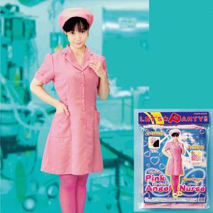 変身コスチューム ピンクのエンジェルナース L - 拡大画像