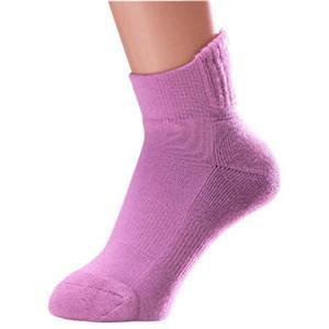 片手ではけるやさしい靴下 同色2足組 ローズ