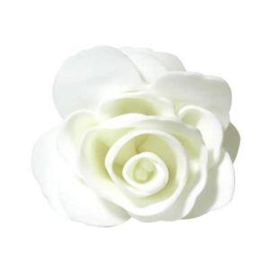 フラワーボディスポンジ バラ ホワイト