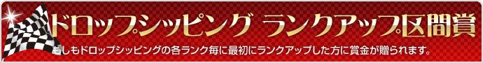 ドロップシッピングランクアップ区間賞