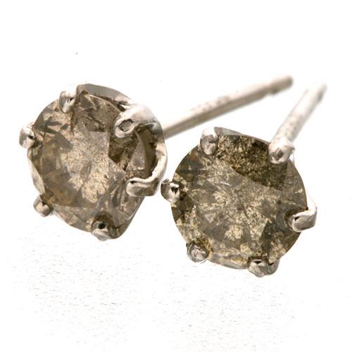 プラチナダイヤモンドピアス Pt900&ブラウンダイヤ0.5ctピアスのポイント2