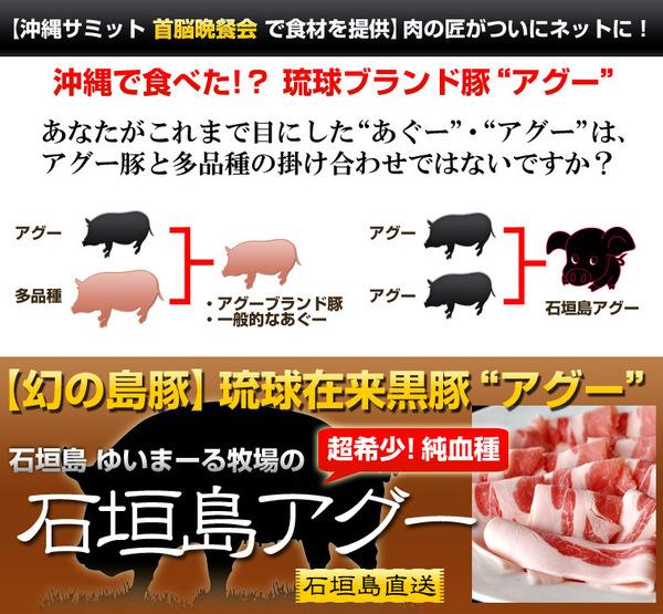 超希少!純血アグー(琉球在来種黒豚) 焼肉用