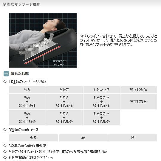 マッサージチェア スライヴ くつろぎ指定席 CHD-651(CH)チャコールグレーのポイント3