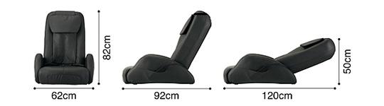 マッサージチェア スライヴ くつろぎ指定席 CHD-651(CH)チャコールグレーのポイント7