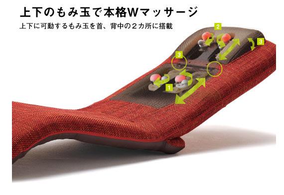 ヒーター付マッサージ座椅子 フロアチェア AX-FR1629 アーバンレッド ATEXのポイント3