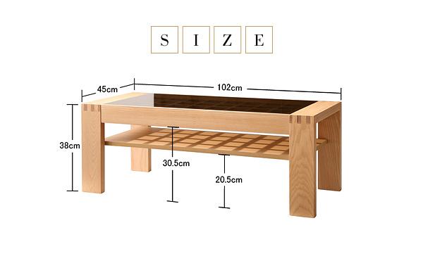 サイズ:(約)幅102×奥行45×高さ38cm ガラス部分:(約)幅82×奥行40cm