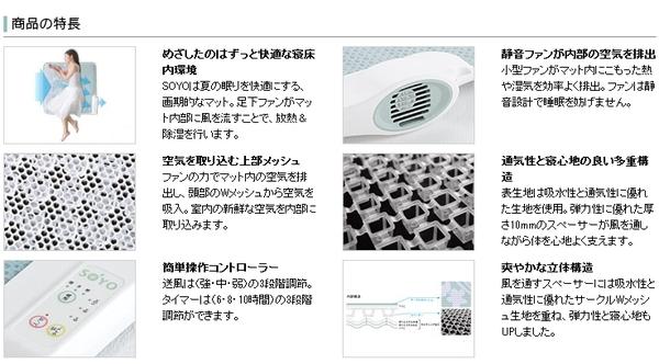ATEX(アテックス) エアコンマット SOYO(そよ) AX-HM1211H ハーフ商品の特長