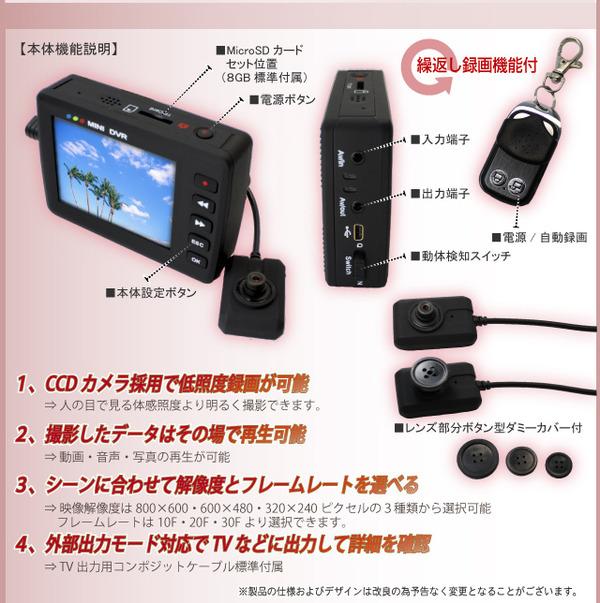 ボタン型カメラ