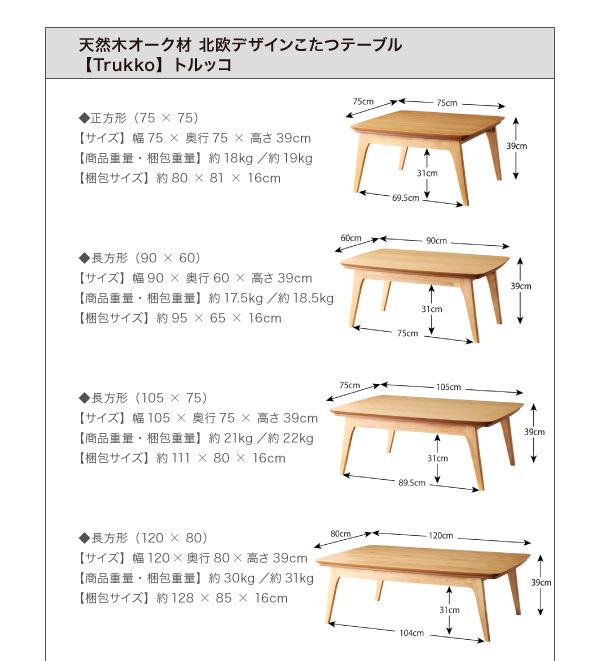 Trukkoシリーズ こたつ フラットヒーター 画像18
