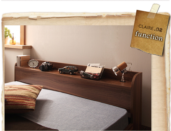 お部屋が広く見えるフロアタイプのベッド