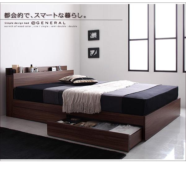 2万円で買えるベッド 棚・コンセント付き収納ベッド
