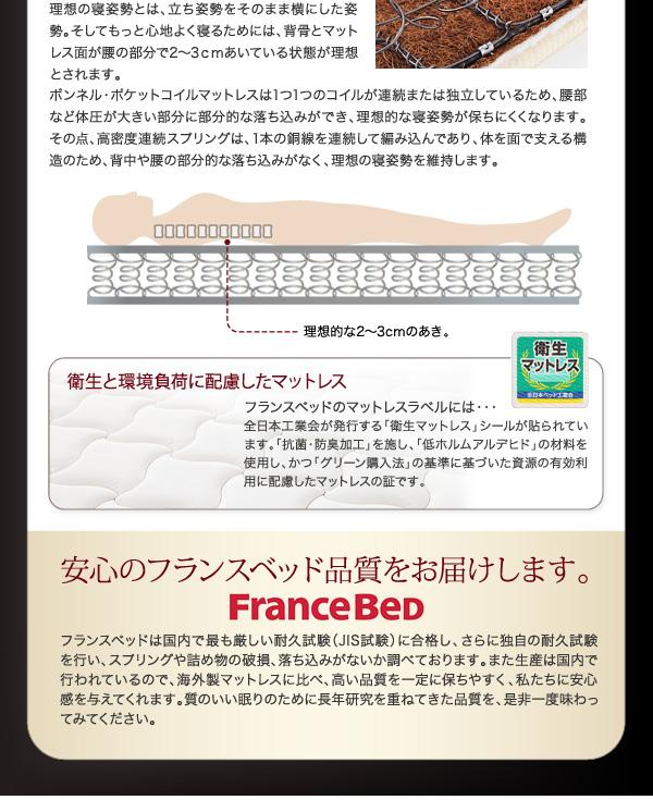 2万円で買えるベッド 世界中から支持されているフランスベッドの高密度スプリングを使用