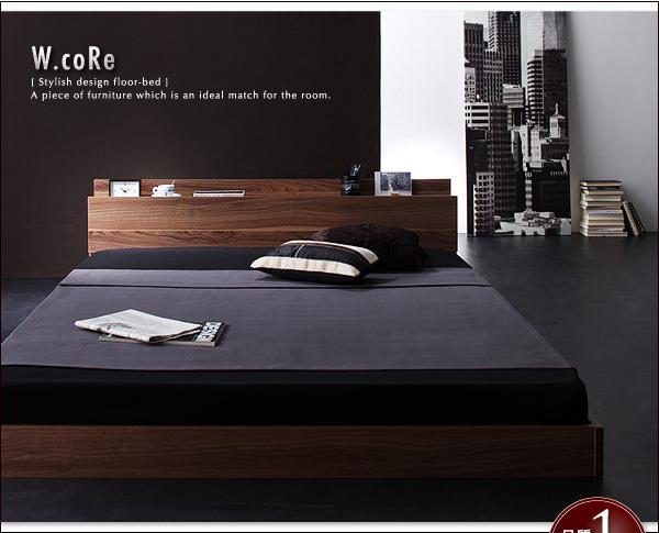 2万のセミダブルベッド、ヘッドボードは、こだわりディスプレー付のベッド、まるでコレクションラック!