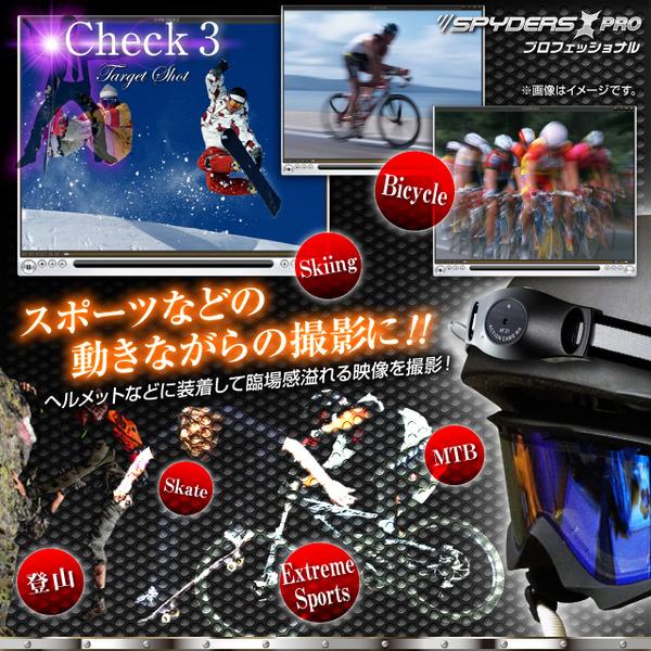 ヘルメット用カメラ