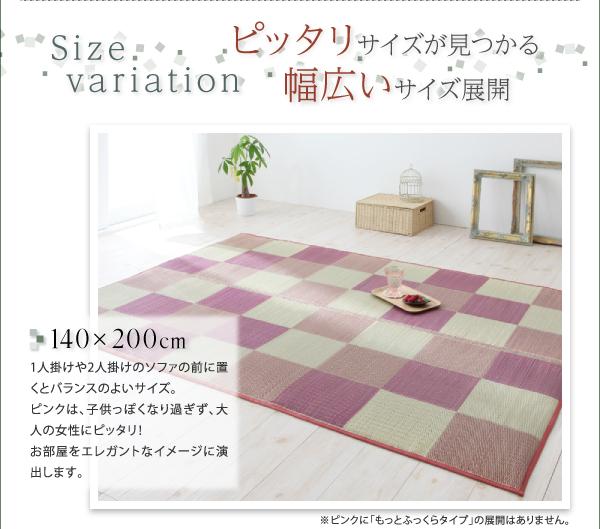 い草ラグ カジュール 261×352cmサイズ 画像