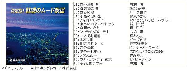 決定版!魅惑のムード歌謡 CD10枚組 全160曲収録