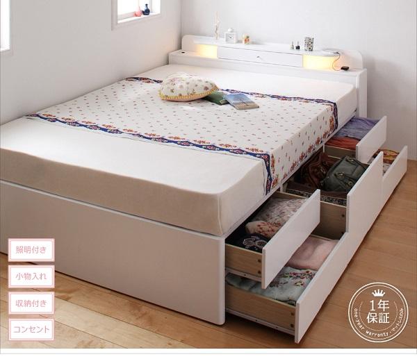 9万円で買える、セミシングルサイズ・収納付きベッド、チェストベッド・縦横開閉が選べる、ガス圧式で簡単に開けれる