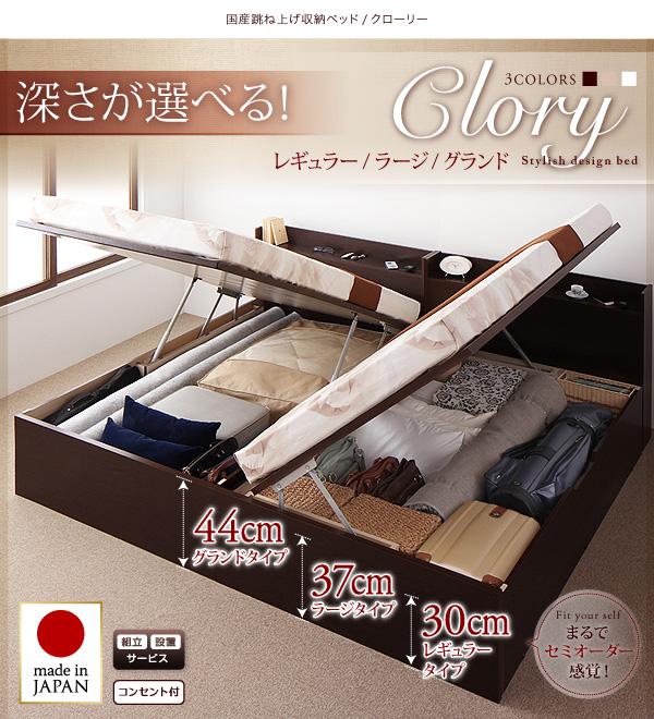 11万円で買えるダブルベッド、大きな場所をとるベッドのスペースを有効利用、収納スペースに活用