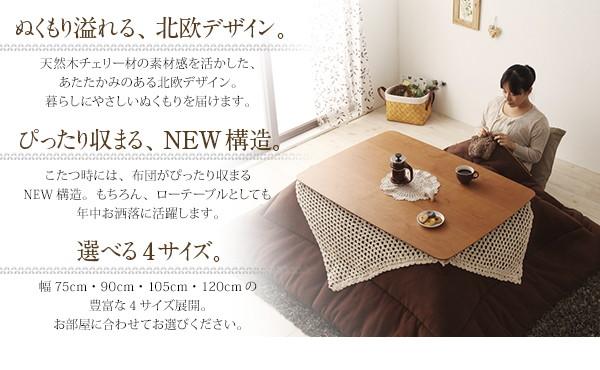 Milkkiシリーズ こたつ フラットヒーター 画像02
