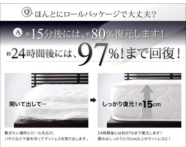 圧縮マットレス [通販安い値!] ボンネルコイル・ロールパッケージ仕様
