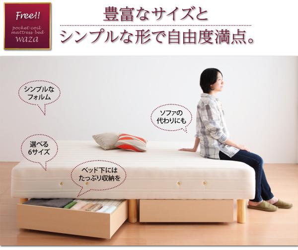 60000円から買える、ベッド下の空間を有効活用できる引き出し収納ができます