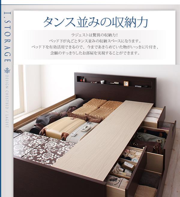 ベッドを置いたらタイスが1つ不要になるくらいの収納ベッド