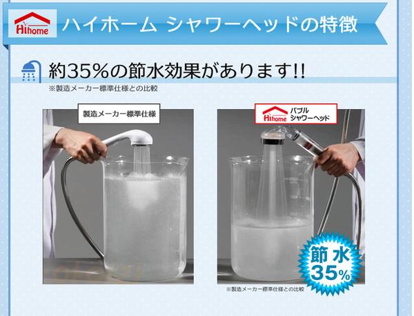 複合4種フィルターで優しい水を体感!節水!快適シャワーライフ!ハイホーム バブルシャワーヘッド