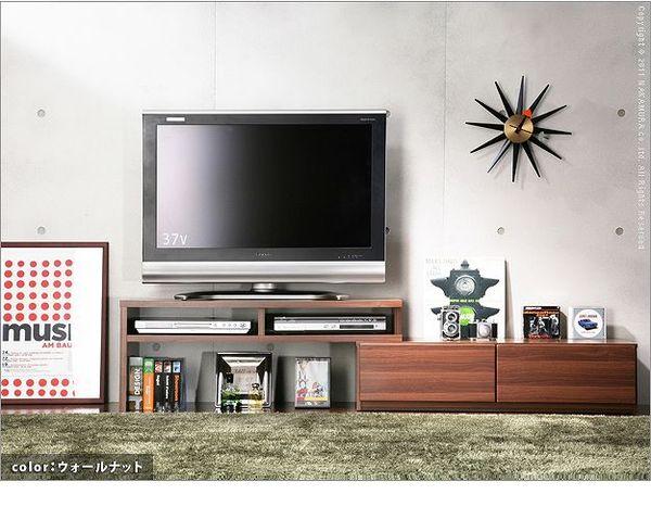 おしゃれでシンプルなテレビ台・テレビボード 背面収納スライドTVボード ロビン テレビ台 テレビボード(前板鏡面タイプ有)