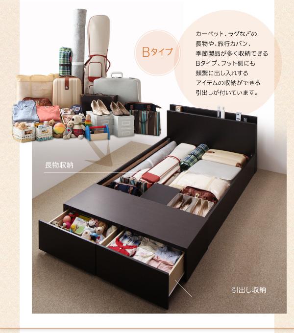 15万円で買える大きいベッド 収納ベッド、普段使わないスーツケースもベッドの下に収納