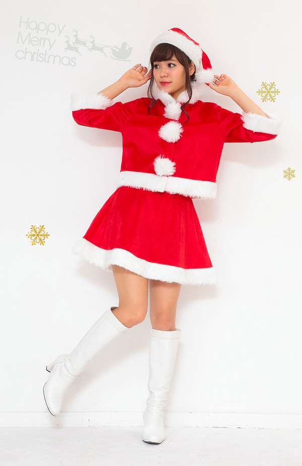 サンタガールコスチューム プリティサンタ ジャケット&スカート
