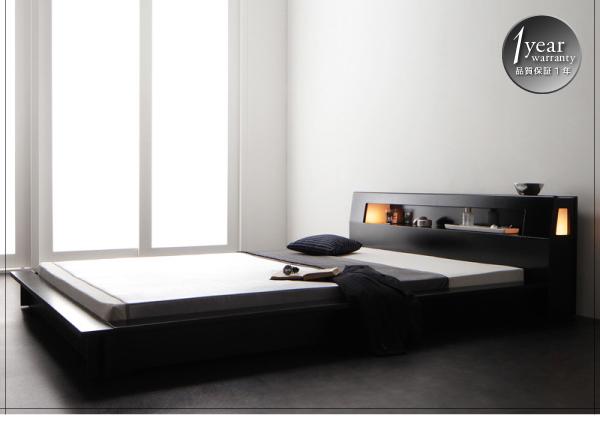 低いタイプのベッドに変えるだけで、驚く程の開放感が広がります