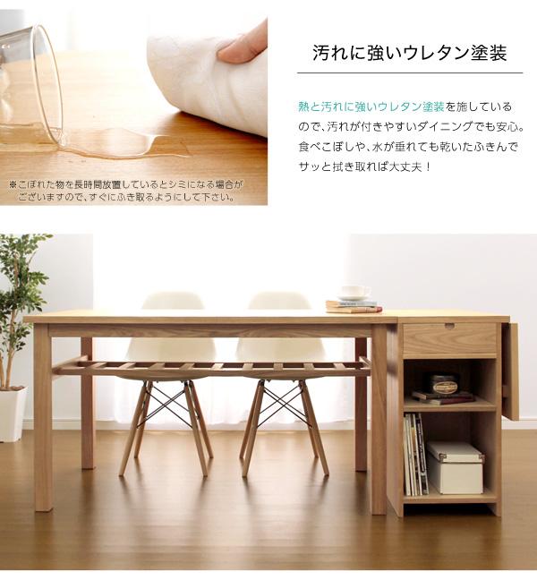 ダイニングセット【Genero-ジェネロ-】(バタフライテーブル付き6点セット) ブラウン11