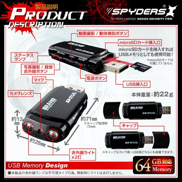 USBメモリー型スパイカメラにmicroSDカードを付ける