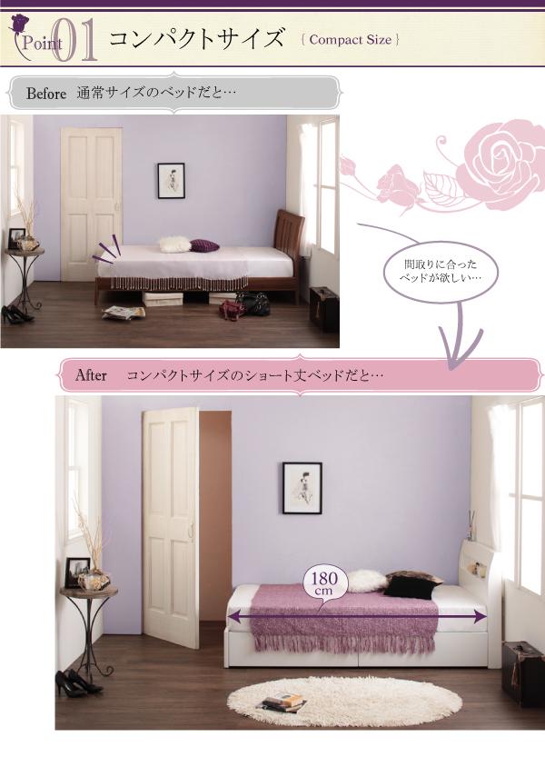 6万円のセミシングルベッド、約2畳分の荷物がベッドの下に隠せます