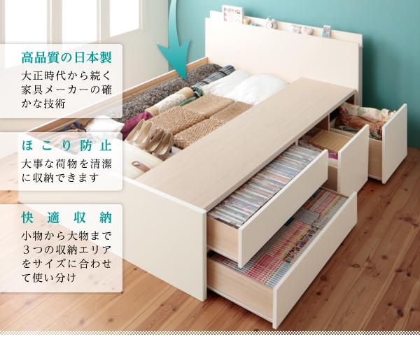 ベッドも家具です、それも大きなスペースを取ります、そのスペースを利用しましょう