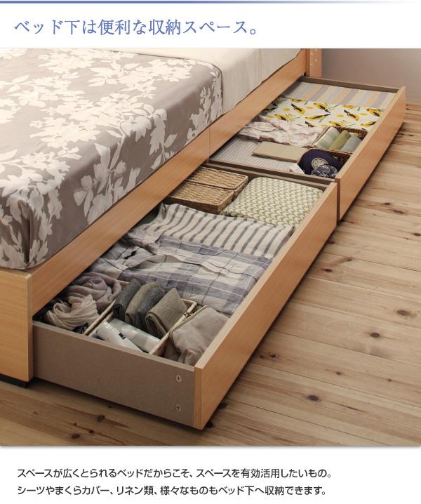 9万円で買える、大きいベッド・収納ベッド、チェストベッド・狭い部屋にピッタ゜リ、衣類・バッグもベッドの下にスッキリ収納