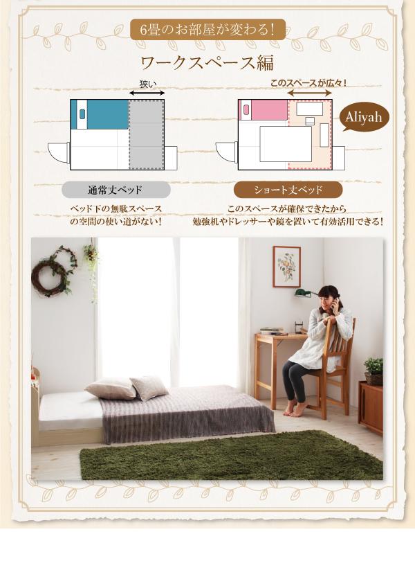 6畳のお部屋が変わるベッド