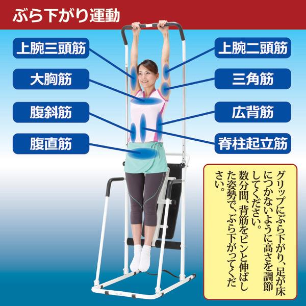 ぶら下がり運動で全身のストレッチと正しい姿勢をサポート