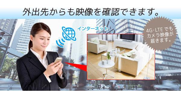 WiFi機能付き隠しカメラ遠隔操作スマホで監視防犯カメラ
