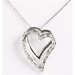 ROSSONA ダイヤモンドコレクション 0.3ct天然ダイヤ20石ペンダント(Heart Boxつき) Love Heart - 拡大画像