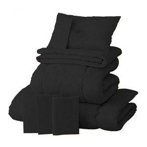 【ベッド専用】新20色羽根布団8点セット【ベッドタイプ】シングル サイレントブラック - 拡大画像