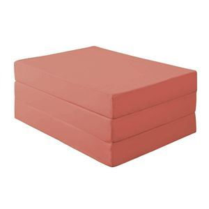 マットレス シングル【厚さ12cm】ローズピンク 新20色 厚さが選べるバランス三つ折りマットレス - 拡大画像