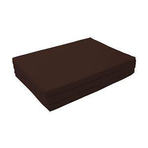 マットレス シングル【厚さ6cm】モカブラウン 新20色 厚さが選べるバランス三つ折りマットレス - 拡大画像